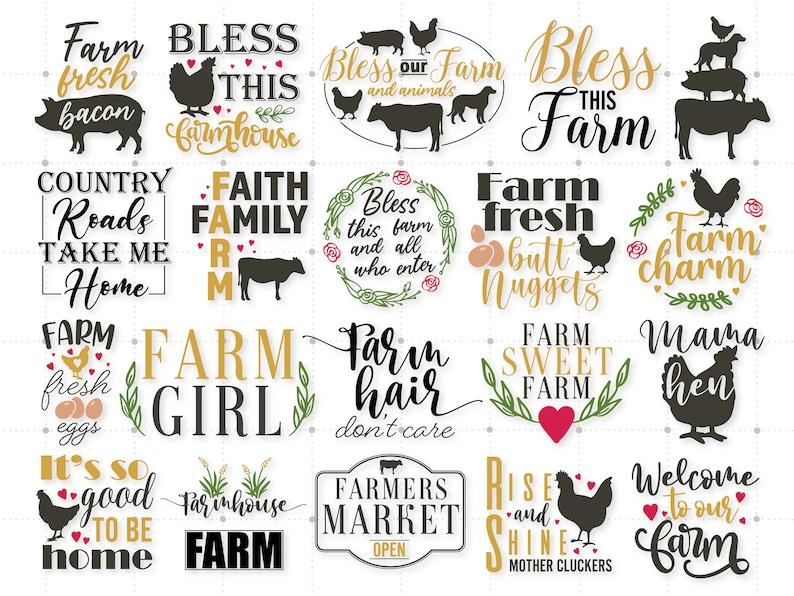 Farm Cricut And Silhouette Farm Signs Svg 82 Farm Bundle SVG Farm Life Svg Svg Cut Files Farm Svg Farm Clipart Farmhouse Quotes Svg