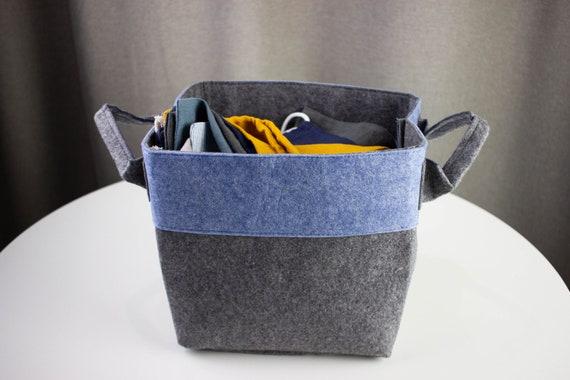 2-ER box feltbox storage box Storage Basket Filzkorb Grey