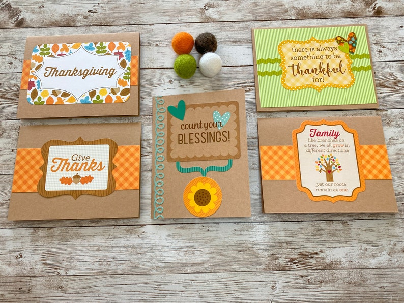 Handmade Autumn Cards Fall Note Card Set Fall Greeting Cards Blank Cards Set of 5 Fall Stationery Fall Cards