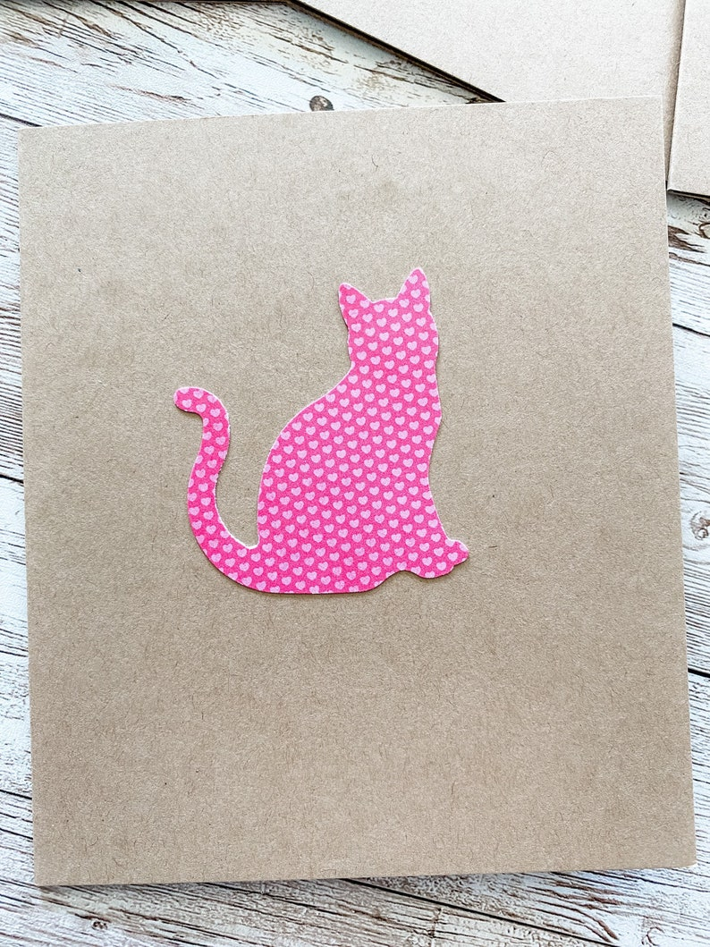 Cat Note Card Set Cat Thank You Cat Cards Blank Cat Greeting Cards Cat Card Set Cat Stationery Handmade Cards 6 ct.