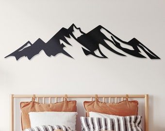 Mountain wall decor, Metal mountain wall art, Large metal wall art mountains, Mountain metal, Metal mountain wall decor, Snow mountain art