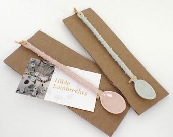 Spoon, ceramic spoon, porcelain spoon, porcelain, tea spoon, coffee spoon, kitchen tools, tea party, gift