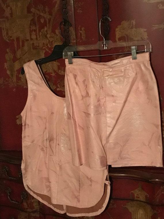 Pink leather set - image 3