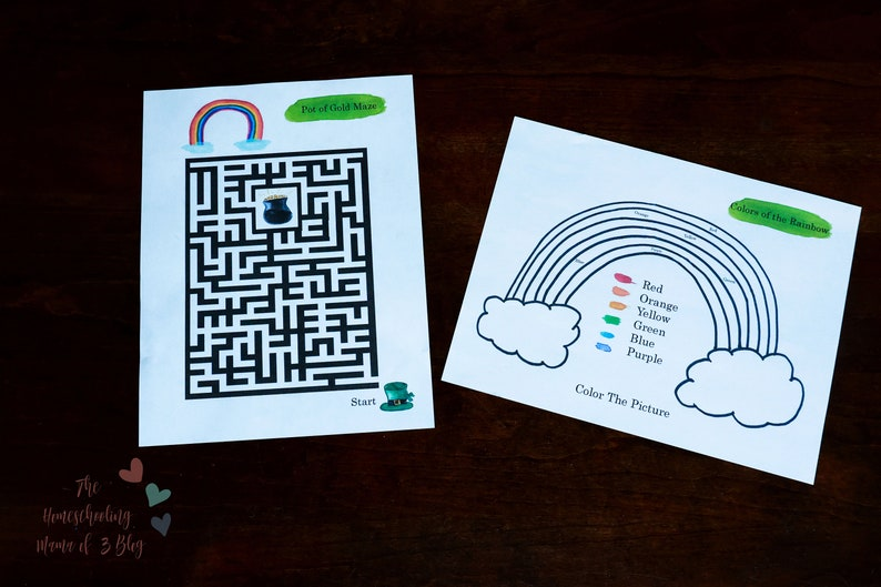 Patrick/'s Day Activity Printables The Homeschooling Mama of 3 St