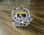 Tea pot with 6 tea bags ginger honey
