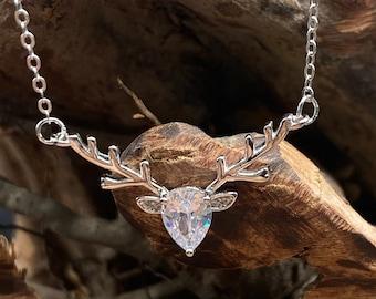 Deer Necklace Deer Pendant Dainty Necklace Sterling Silver 925