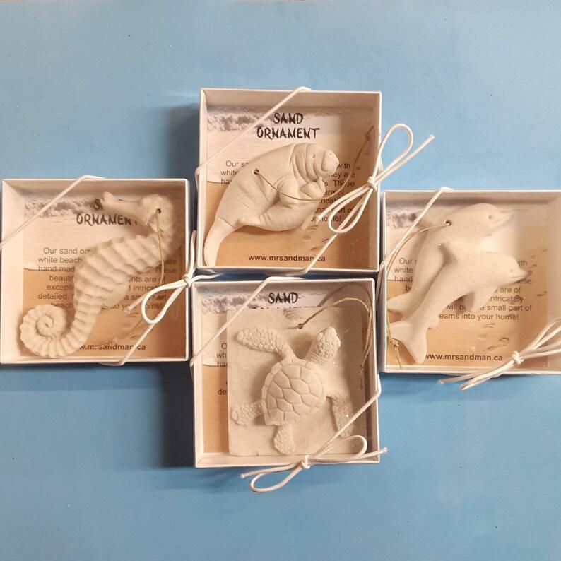 Sea life sand ornament 4 pack