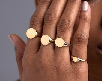 Chevalier Heart Ring 14k  Solid Gold  Inital Ring  Personalized Ring  Custom Ring  Minimalist Ring  Anniversary Gift  Fine Jewelry