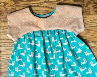 18mo Cotton top with ribbon tie closure in back for toddler girls