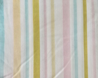 CUSTOM dress for baby, toddler, and girls - VINTAGE pastel striped fabric