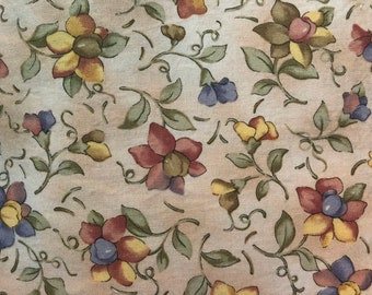 CUSTOM dress for baby, toddler and girls - Tan floral cotton fabric