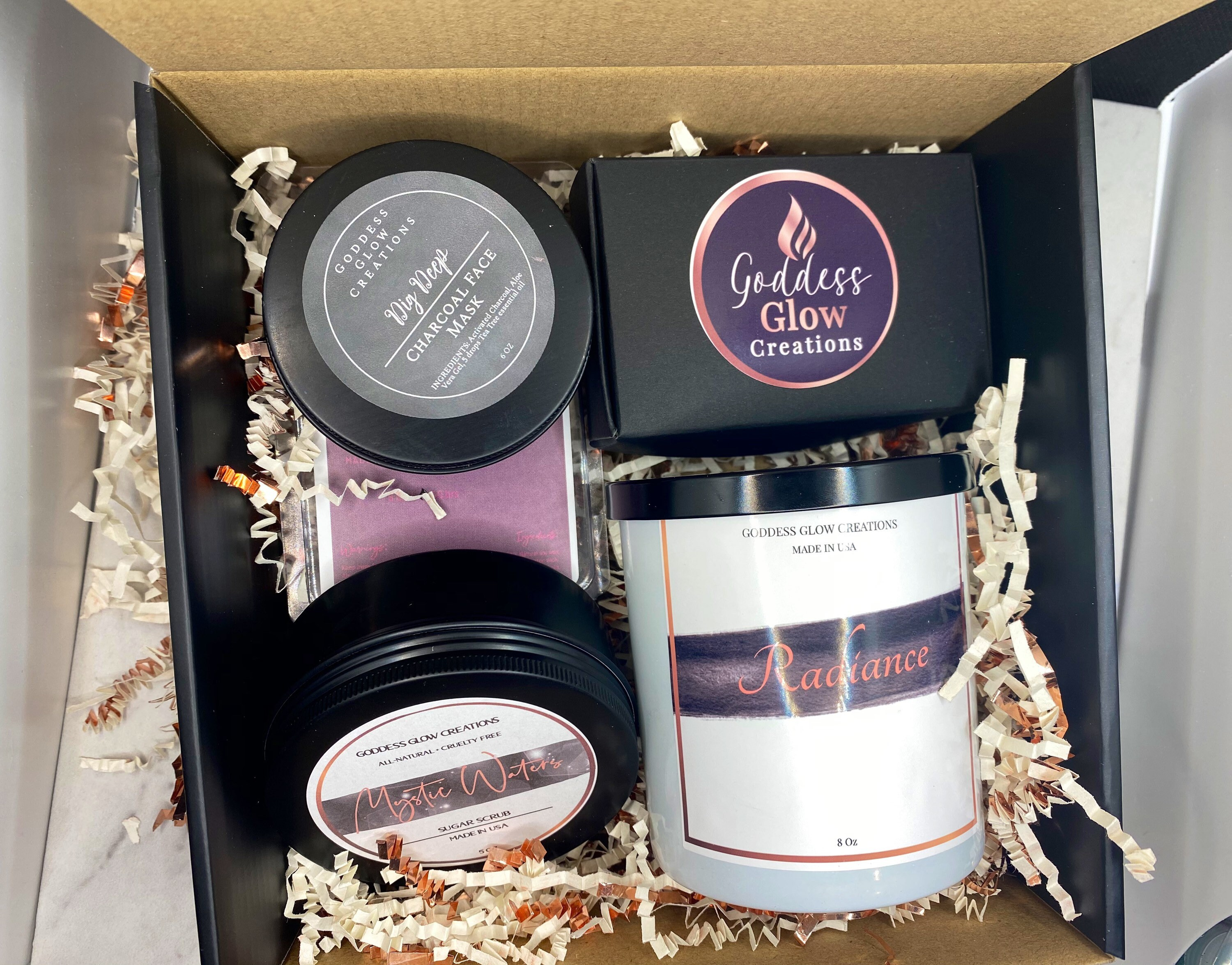 Self Care Box Bestie Box Gift For Mom Goddess Candle Gift For Her All Natural Products Bridal Gift Mini Spa Box Spa Gift Set