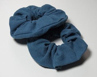 Baby Blue Hair Ties /& Elastics Perfect for a gift Hair Accessories Hair Tie Linen Scrunchies Linen Scrunchies