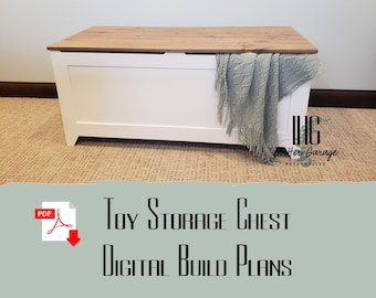 Toy Chest - Storage Chest - Hope Chest - Blanket Chest- Build Plans