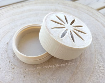 Eco-friendly Soap Dish and Travel Box   2 in 1   For your zero waste Shampoo Bar, Soap, Hair Conditioner or Deodorant   Round Box