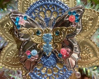 Dresden foil butterfly ornament