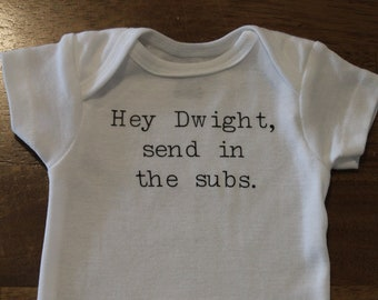 The Office Addicts Baby Outfit The Office Themed Baby Announcement Office Baby Outfit Jim and Pam Baby Announcement Send in the Subs