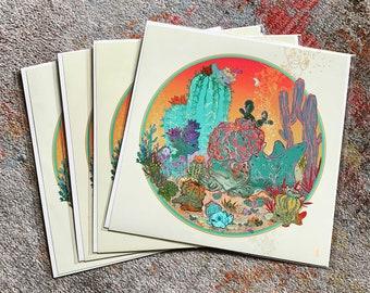 Southwest Succulent/Cacti Fish Print