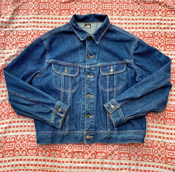 1970s-1980s Vintage Lee Denim Jacket Made in Canad