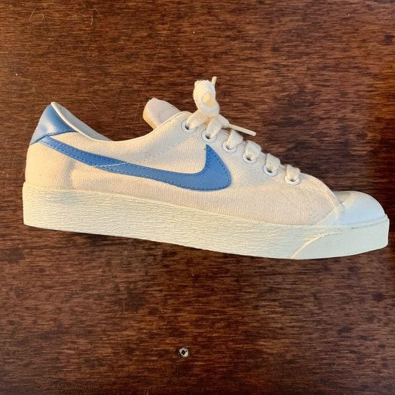 Vintage 1970s Nike Court Blazer Canvas Running Sho