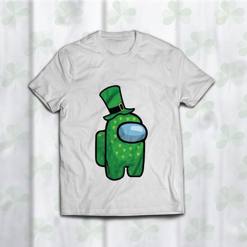 Among Us Character Svg, Patrick/'s Hat Svg Among Us Svg St Among Us Video Game Svg Shamrock Svg Patrick/'s Day Svg St