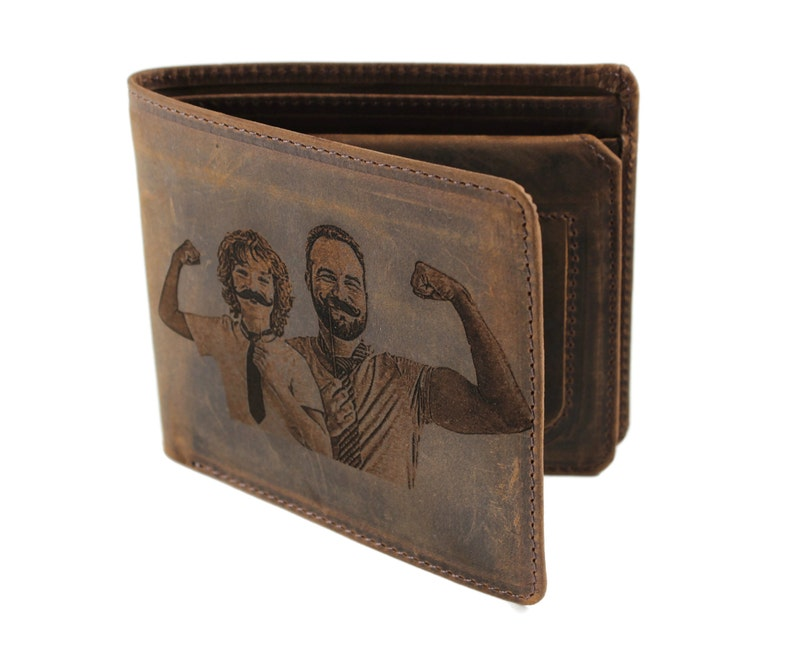 A wallet is a perfect plus for the man. So, a leather wallet is always considered a meaningful gift for men. Just provide a picture that means a lot to you and your dad to make a personalized photo wallet for him. Your wallet gift will become a partner wherever your dad goes. Every time he uses it, he will be happy and always think about his family.