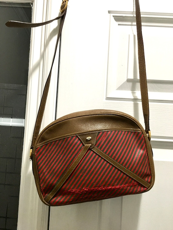 Ladies Vintage Gucci Accessory Collection Striped
