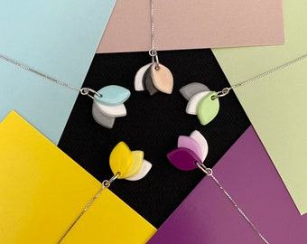 Lali   Polymer Clay Threader Earrings   Sterling Silver Earrings   Fashion Earrings   Colourful Earrings
