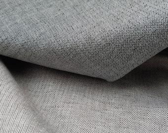 Linen Cotton HBT herringbone twill chambray fabric by half yard, #2750 #2417