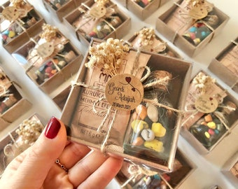 Wedding Favors For Guest in Bulk / Set of coffee and pebble chocolates