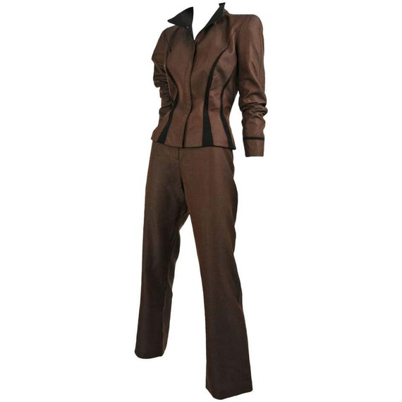 Thierry Mugler Brown Pant Suit