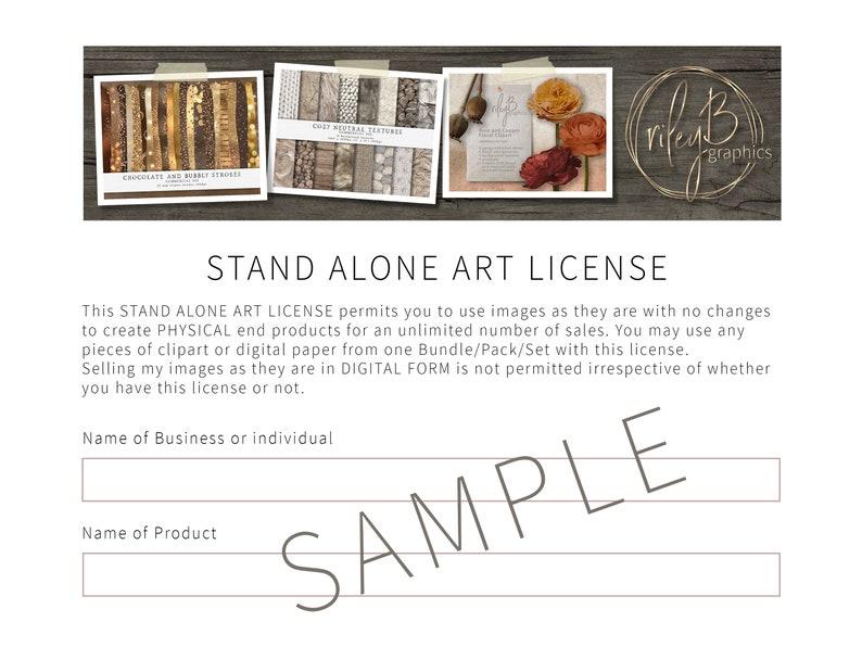 Stand Alone Art License Graphic License Unlimited Use License Clipart License Pattern License Digital Paper License