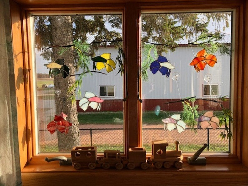 Stained Glass Suncatchers Betta Colorful Betta/'s with their own branch and greenery to mimic a real Aquarium setting!