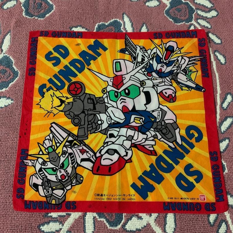 Vintage1992s SD Gundam Bandai Handkerchief