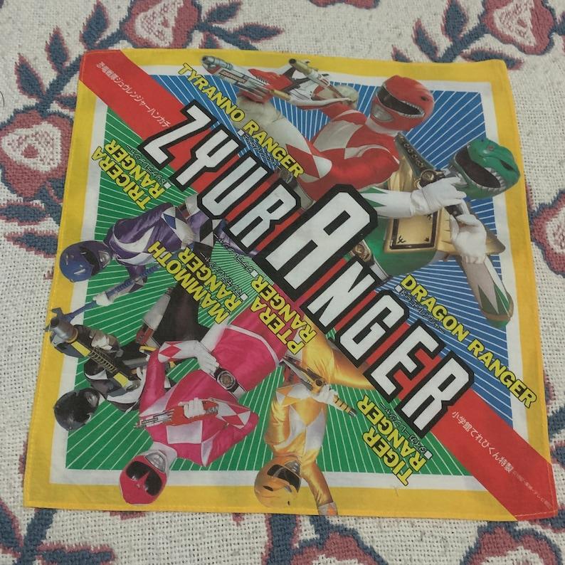 Vintage Ky\u014dry\u016b Sentai Zyuranger Handkerchief