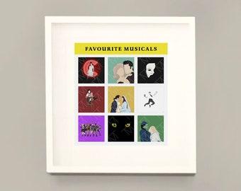 Customisable 'My Favourite Musicals' Art Print