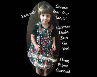 Reversible Dress Custom Little Sparrow Smock Dress With Pockets Choose The Fabric Reversible Smock Multiple Sizes Dress Loose Dress