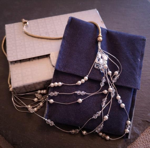 Stunning Swarovski Crystal Multi Chain Necklace