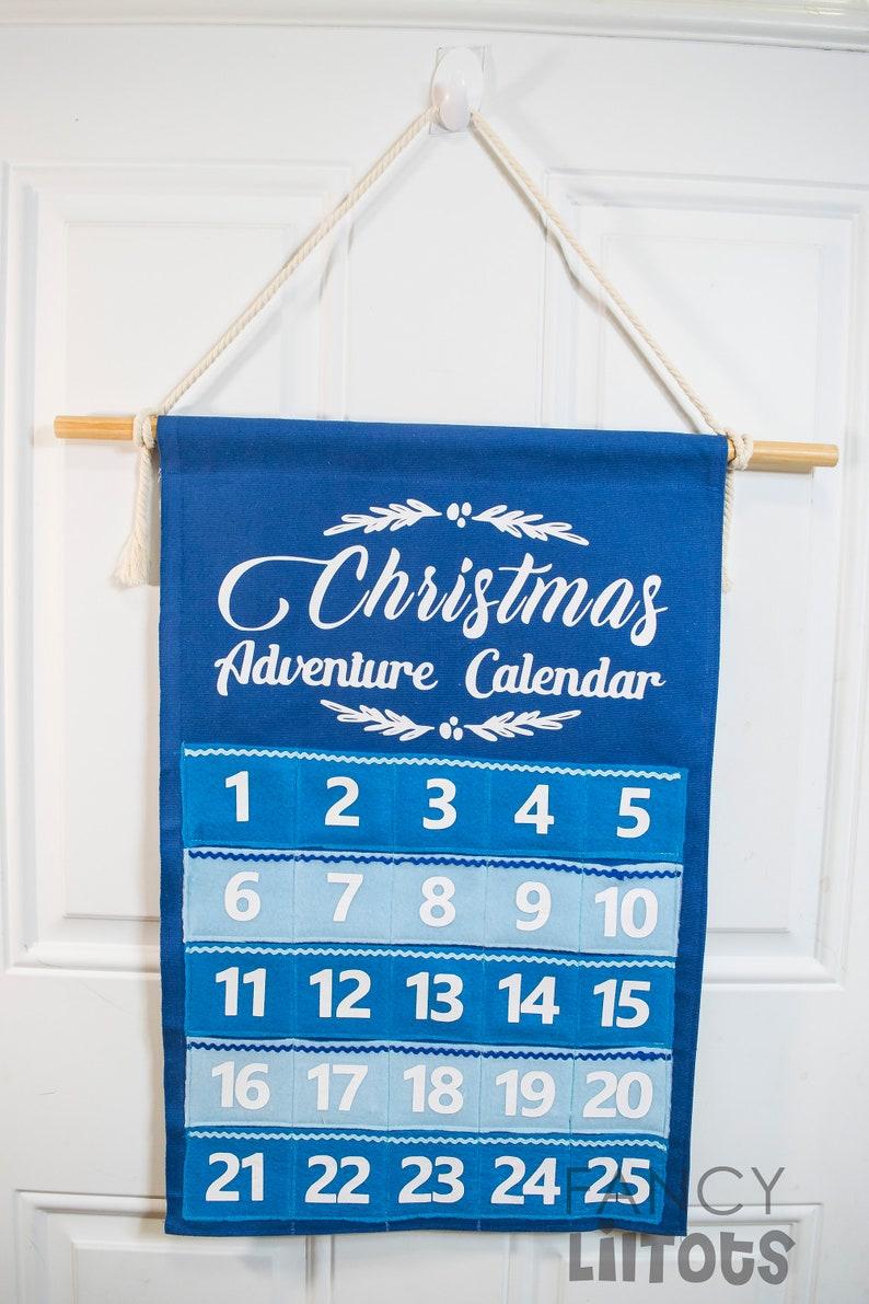 Fabric Advent Calendar with 25 activity cards Christmas Countdown Christmas decor Kids Christmas Calendar Adventure Christmas Calendar