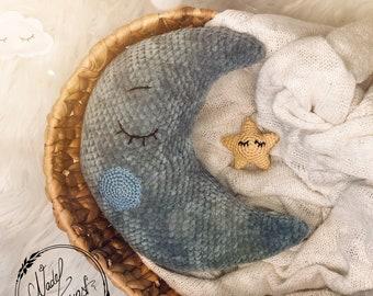 """PDF DEUTSCHE Anleitung für den Kuschelmond """"Luna"""" Design von Nadelkunst.Handmade by Anne"""