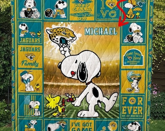 Miami Dolphins Snoopy Quilt Blanket Snoopy  Funny Quilt All Size