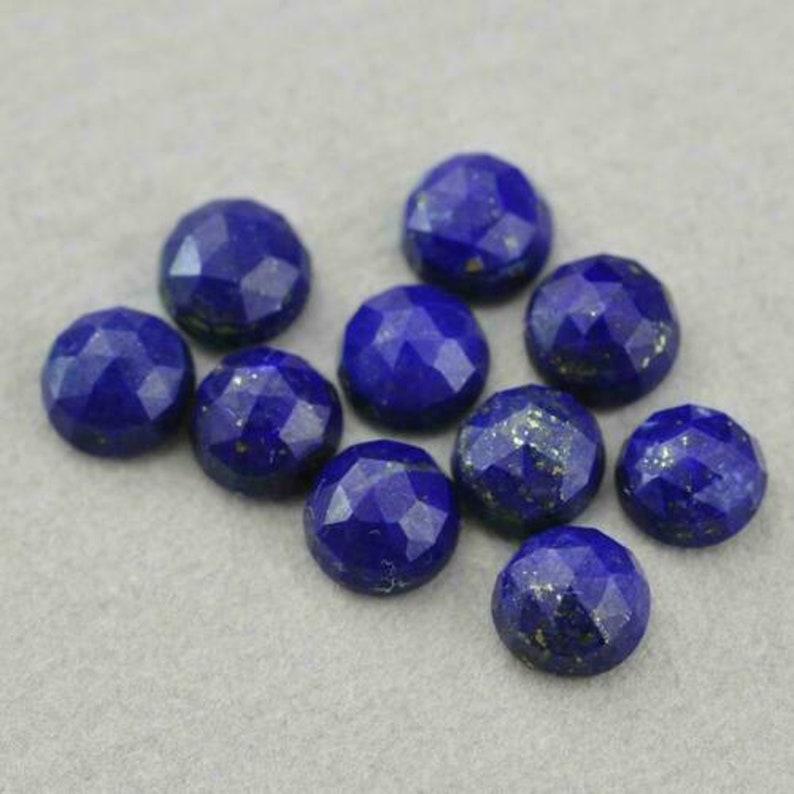 Lapis Lazuli Loose Gemstones Natural Lapis Lazuli 3x3mm-4x4mm-5x5mm-6x6mm Round Rose Cut Loose Gemstones Gemstones For Jewelry