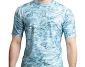 Mens Short Sleeve Loose Fit Swim Rash Guard UPF 50 Short Sleeve Rashguard Swim Shirts for Men