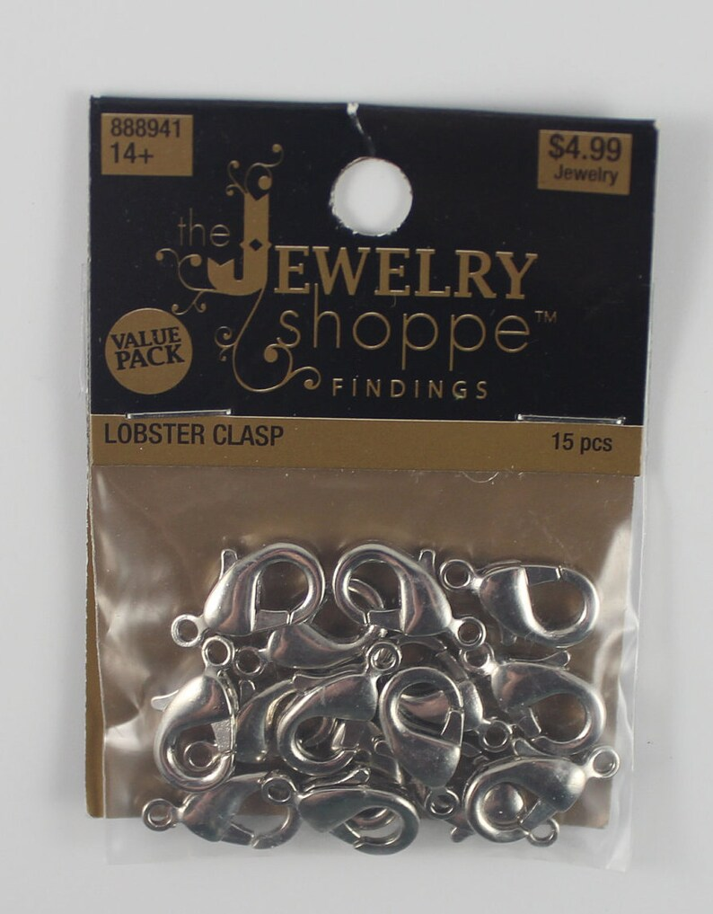 lot of silver-tone lobster clasps
