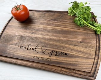Personalized Cutting Board, Engraved Cutting Board, Wedding Gift, Anniversary Gift, Engagement Gift, Couples Gift, 048