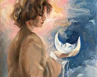 The Boy who Found the Moon print