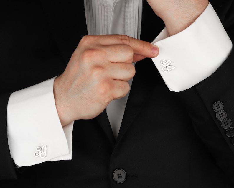 Personalisierte Manschettenknöpfe in Silber