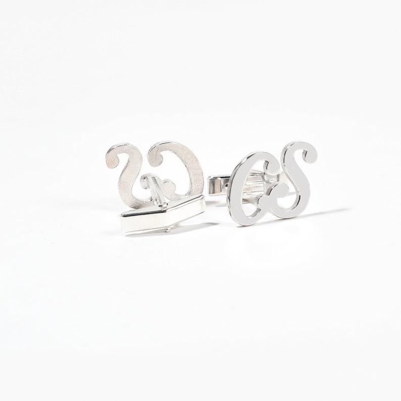 Initials Cufflinks Father Gift Letter Cufflinks Valentine/'s day Cufflinks Groomsmen gift Groom Wedding Cufflink Personalized CuffLinks