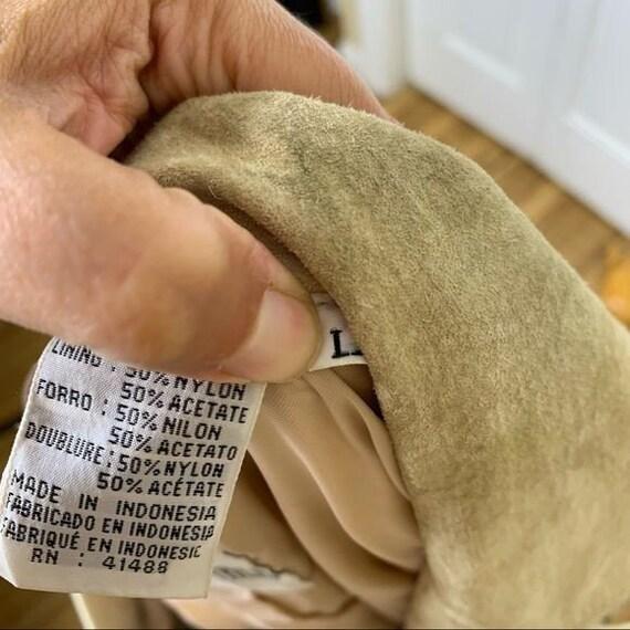 Vintage Unisex Tan Leather Fringed Jacket - Large - image 10