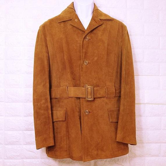 Vtg CRIMO EXCLUSIVE suede leather jacket Sz 42 saf